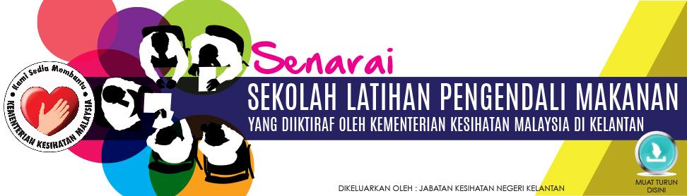 Klik untuk muat turun Senarai Sekolah Latihan Pengendali Makanan di Kelantan