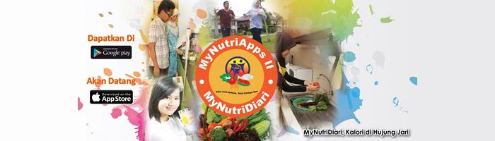 MyNutriApps 2 : MyNutriDiari - Klik untuk melayari laman web rasmi Bahagian Pemakanan KKM