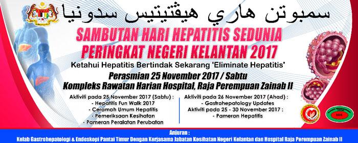 Sambutan Hari Hepatitis Sedunia Peringkat Negeri Kelantan 2017