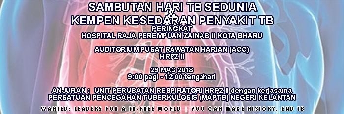 Sambutan Hari TB Sedunia Peringkat HRPZ II KB Tahun 2018