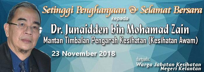 Persaraan TPKN Kesihatan Awam, Dr. Junaidden bin Mohamad Zain