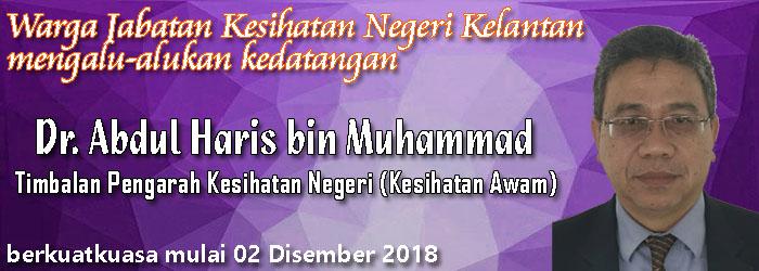 Selamat Datang TPKN Kesihatan Awam, Dr. Abdul Haris Muhammad