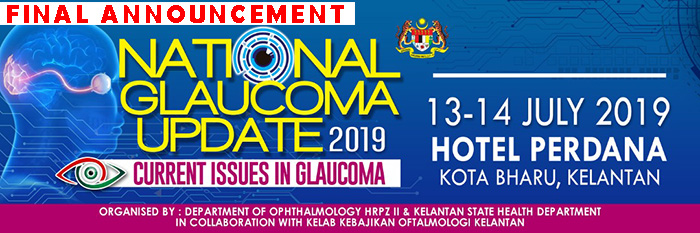 National Glaucoma Update 2019 FINAL ANNOUNCEMENT - Click on banner for further info.