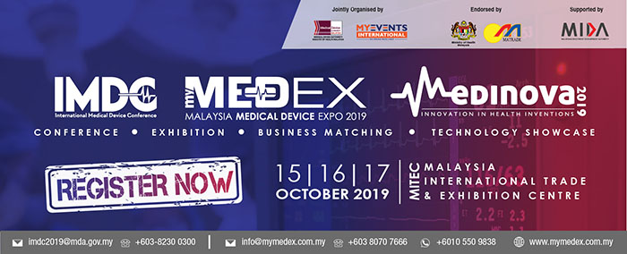 INTERNATIONAL MEDICAL DEVICE CONFERENCE (IMDC) 2019 DAN MALAYSIA MEDICAL DEVICE EXPO (MYMEDEX) 2019