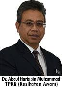 Timbalan Pengarah Kesihatan Negeri (Kesihatan Awam) - Dr. Abdul Haris bin Muhammad