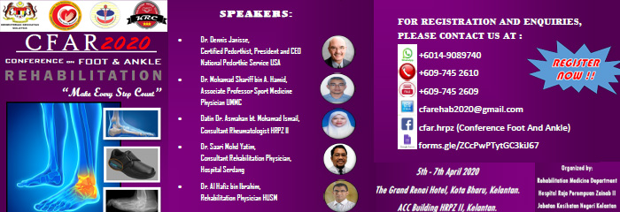 Conference in Foot and Ankle Rehabilitation 2020