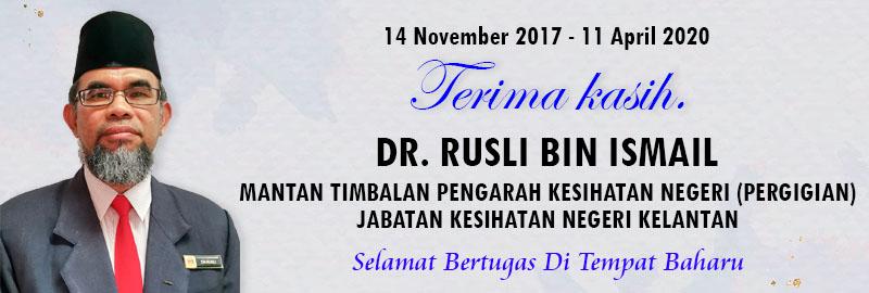 Terima Kasih Dr. Rusli