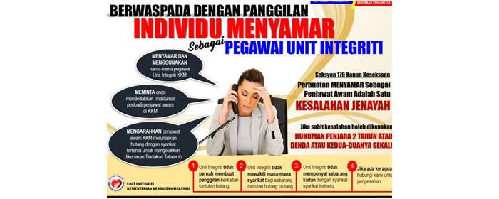 Berwaspada Dengan Panggilan Individu Menyamar